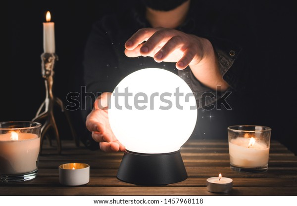 Divination from a crystal ball, clairvoyance