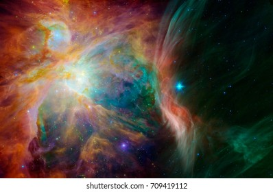 a divine connection of fog orion and han - elements of this image furnished by NASA