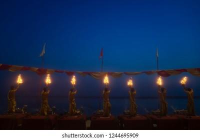 Divine Ganga aarti varanasi in India