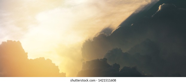 divine intervention heavenly sky background
