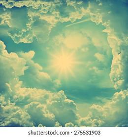The divine sky. Retro stale.