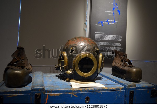 Diving Equipment 19th Centuryhalden Channel Museumjyly Stock Photo