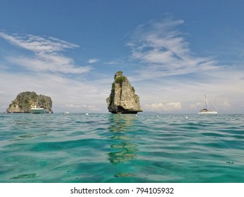 Diving time at Koh Haa Island, Krabi, Thailand