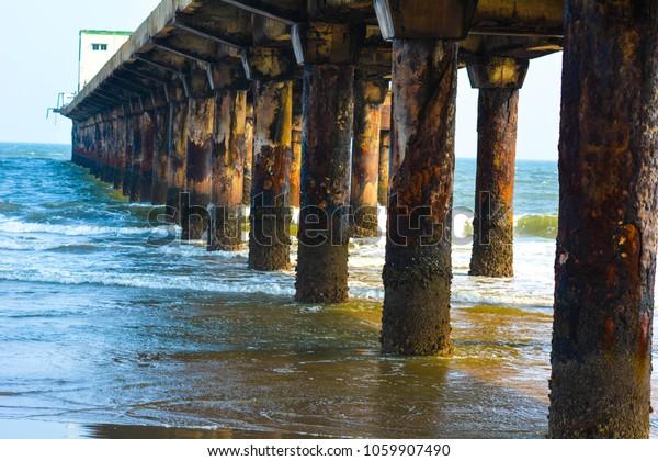 Divis Bridge Visakhapatnam Tourist Place Visit Stock Photo
