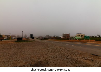 Divisa Alegre, Minas Gerais, Brazil - 05/01/2019:  The fog in the morning in Divisa Alegre a small town on the border of the states of Minas Gerais and Bahia, cut by highway BR-116