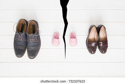 Divorce, breakup and parents and child separation problem concept