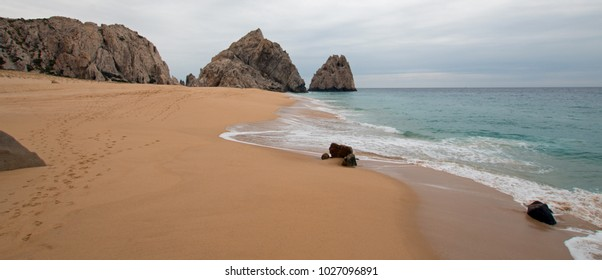 Divorce and Lovers Beach on the Pacific side of Lands End in Cabo San Lucas in Baja California Mexico BCS