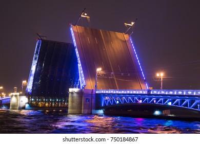 divorced palace bridge in st. petersburg
