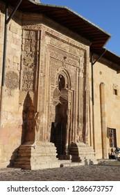 Divrigi, Sivas / Turkey - April 19, 2016: Gate of the Grand Mosque of Divrigi.
