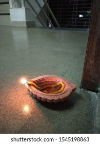 Diwali diya shining bright at night