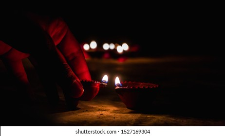 Diwali Diya(oil lamp) also known as diva. Diwali is biggest festival of India. Diwali is festival of lights and happiness.