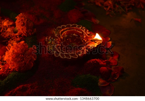 Diwali Indian Festival Lights Symbolises Spiritual Stock Photo (Edit