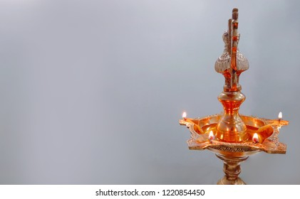 Diwali Lamp with white background.