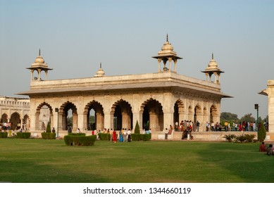 Diwan-i-Khas, or Hall of Private Audiences, in the Red Fort of Delhi