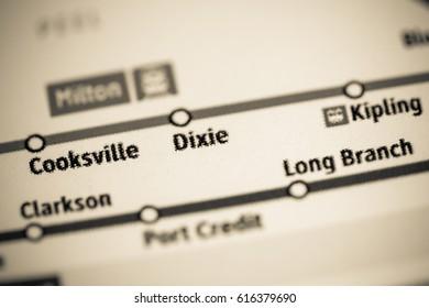 DIxie Station. Toronto Metro map.