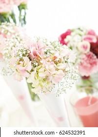 diy a beautiful wedding bouquet flower in glass