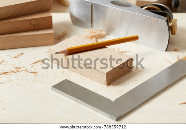 Diy Concept Woodworking Crafts Chisel Plane Stock Photo Edit Now 788559712