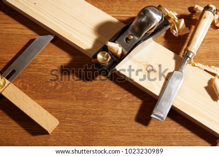 Diy Concept Woodworking Crafts Tools Carpentry Stock Photo Edit Now