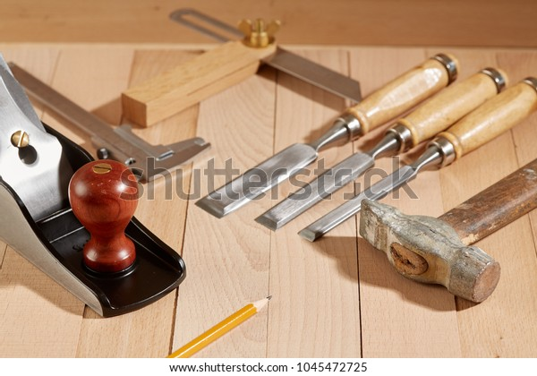 Diy Concept Woodworking Crafts Tools Carpentry Stock Photo