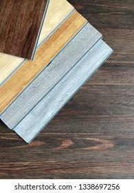 Diy item for floor renovate work concept : easily installing vinyl floor sheet