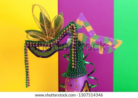 Diy Mardi Gras Bottle Purple Self Stock Photo Edit Now 1307514346