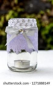 DIY Mason Jar Crafting Idea for Candle Holder