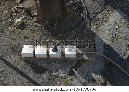 Astonishing Diy Outdoor Electrical Outlet Several Units Stock Photo Edit Now Wiring Cloud Hisonuggs Outletorg