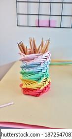 Diy Pencil case craft Origami Paper