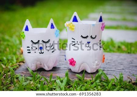 Diy Plastic Bottle Craft Kids Crafts Kids Stock Photo Edit Now