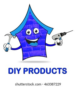 Diy projects showing do yourself home stock illustration 480148126 diy products meaning do it yourself and real estate solutioingenieria Image collections