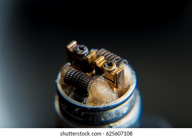 DIY RDA Dripper Coils with cotton stripes