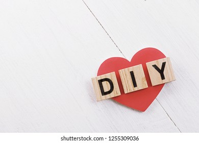 diy word and heart shape