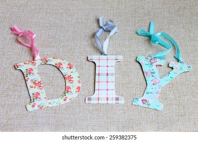 DIY words for Do It Yourself concept