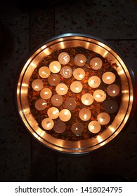 A Diya or deepak is an oil lamp used in the Indian subcontinent,with a cotton wick dipped in ghee or vegetable oils.