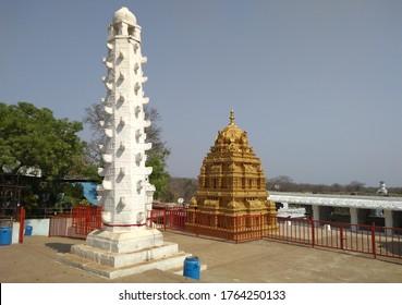 diya stupa in Indian temple