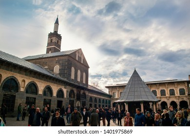 DIYARBAKIR, TURKEY - 17 03 2019: View of the Grand Mosque (Ulu Cami), the central of Diyarbakir,