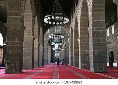 Diyarbakir, Turkey - April 2018: View of Grand Mosque (Ulu Cami)