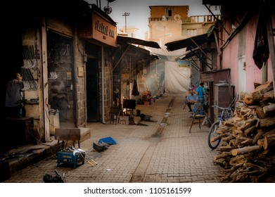 DIYARBAKIR, TURKEY - OCTOBER 01: A hardware manufacturing and market in a side street in Diyarbakir, Turkey.