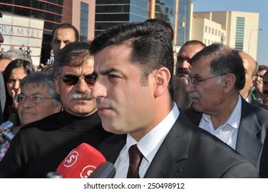 DIYARBAKIR, TURKEY - OCTOBER 18:  PKK detainees sentencing, Kurdish deputy are doing a press release on October 18,2010 in Diyarbakir, Turkey