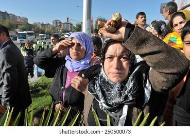 DIYARBAKIR, TURKEY - OCTOBER 19:  PKK was action to support the prisoners on October 19,2010 in Diyarbakir, Turkey