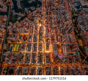 Dizzying Vertical Density of Kowloon District in Hong Kong
