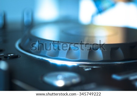 Dj Console Cd Mp 4 Deejay Mixing Stock Photo Edit Now 345749222