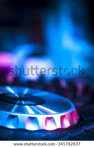 Dj Console Cd Mp 4 Deejay Mixing Stock Photo Edit Now 345782837