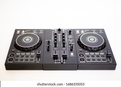 dj controller on a white background