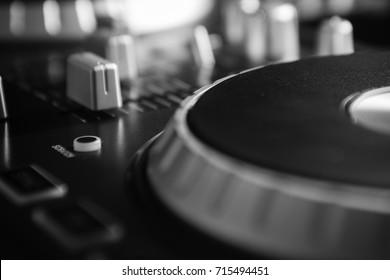 DJ Mixer Console Closeup