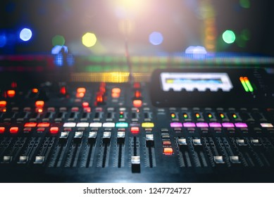 dj mixer and lighting