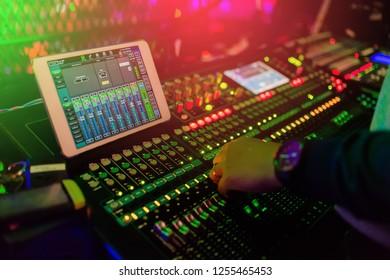 dj mixing the board