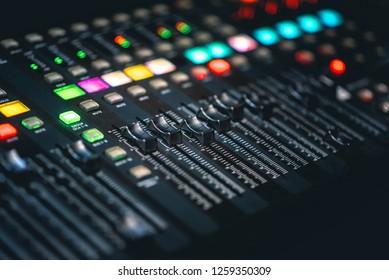 DJ Music mixing console