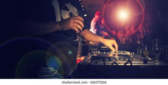 DJ Music night club,music star dj background