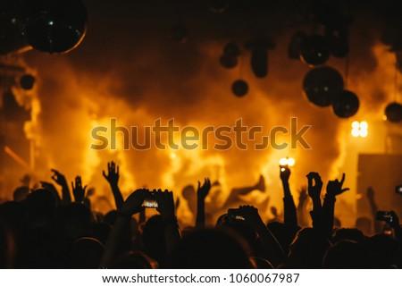Dj Night Club Party Rave Crowd Stock Photo (Edit Now